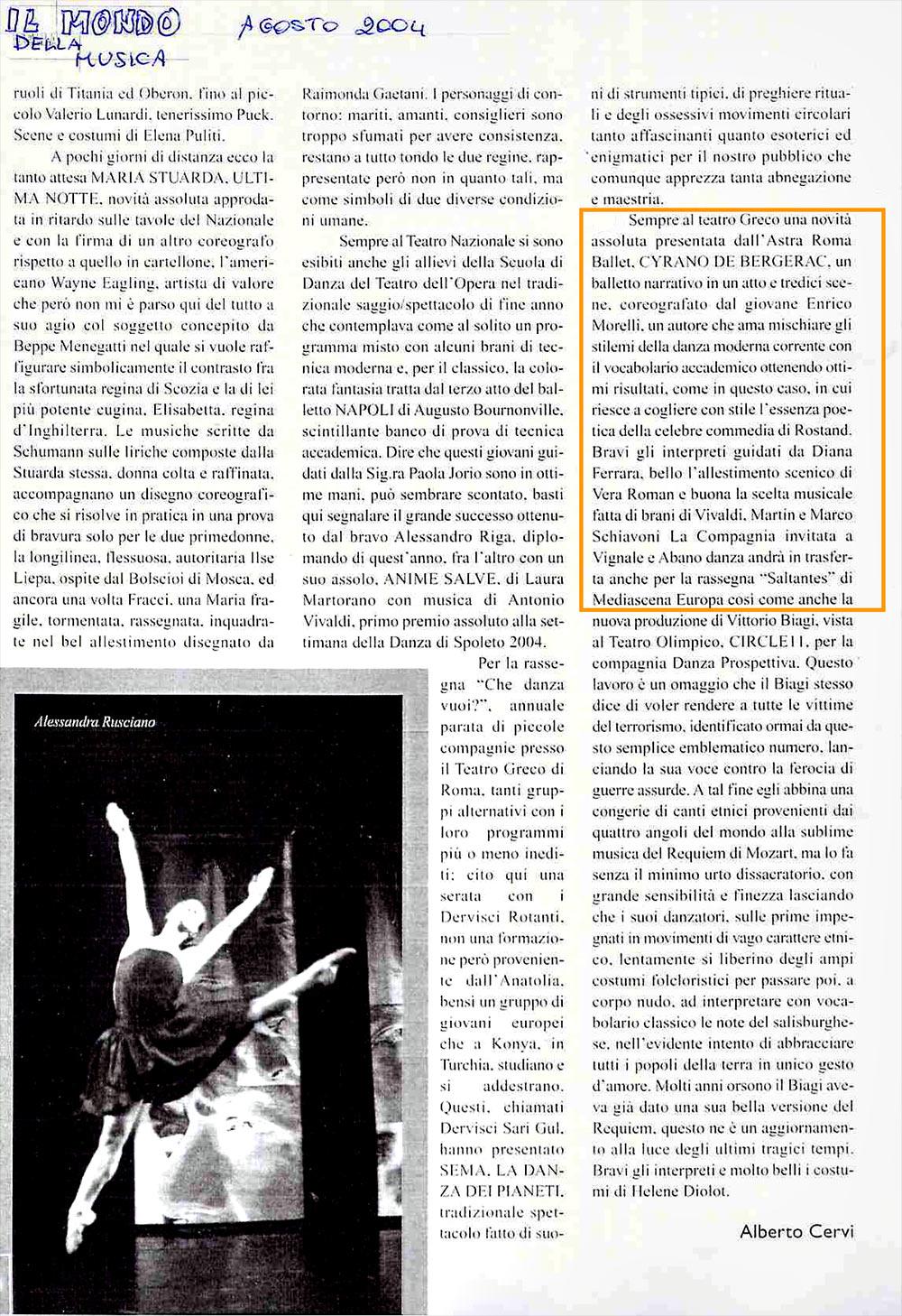 Diana ferrara astra roma ballet compagnia di danza e balletto
